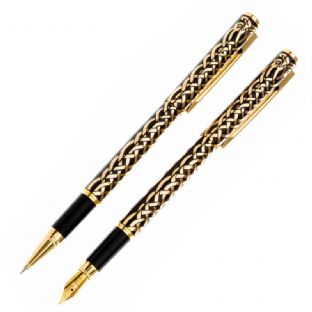Gold Celtic Birds Pen Set